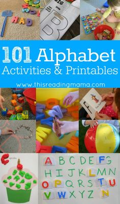 Back to School with 101 Alphabet Activities and Printables (This Reading Mama) Preschool Literacy, Preschool At Home, Literacy Activities, Preschool Activities, Teaching Resources, Preschool Teachers, Early Literacy, Educational Activities, Teaching The Alphabet