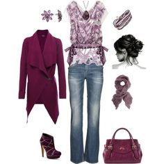 Purple Mist, created by kristen-344, I LOVE this but the shirt is ridiculously expensive :-(