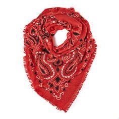 Bandanna Red Schal l ~ Jickie Vintage, Fashion, Red, Patterns, Schmuck, Bags, Moda, Fashion Styles, Vintage Comics
