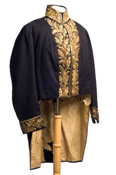 Diplomatic uniform coat, 1858-60, worn by Francis Wilkinson Pickens as Ambassador to Russia under President James Buchanan.  © Charleston Museum