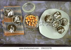 Muffins and bonbons - stock photo
