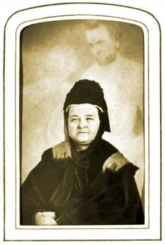 Mary was intensely interested in spiritualism. Around 1871, spirit  photographer William Mumler claimed to have captured the spirit of  Abraham in this shot of Mary.  Find out more #paranormal related information at http://www.panicd.com