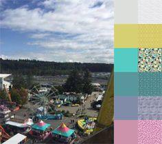 Evergreen State Fair - #123quilt #colorplayfriday #color #palette #colorpalette #inspiration #colorinspiration #ilovecolor #colorcrush #ilovefabric #fabriclove #fabricaddict  https://123quilt.blogspot.com/2016/08/color-play-friday-evergreen-state-fair.html