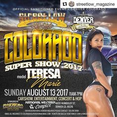 Super Show 2017 is coming up in Colorado  And I will be there  w/ @streetlow_magazine !!!!!! Come stop by and say hi 👋!!!!! #salinas #sacramento #unida #raza #streetlow #streetlowmag #streetlowrider #streetlowmodels #streetlowmagazine #streetlowriderphotography #chicana #chicano #LA #latina #lowlife #lowrider #lowriding #lowandslow #lowriding #losangeles #bomba #bayarea #baylife #bomblife #sanjose #sandiego #santacruz #2017 #montereylocals #salinaslocals- posted by Teresa Maria…