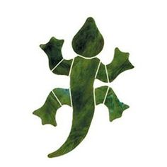 Stained Glass Gecko Pre Cut Mosaic Kit: Office Products