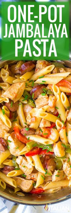 Business Cookware Ought To Be Sturdy And Sensible One-Pot Jambalaya Pasta With Chicken, Andouille Sausage, Shrimp, And All The Cajun Flavor Your Palate Can Handle This Twist On The Classic Louisiana Dish Will Knock Your Socks Off. Sausage Recipes, Pasta Recipes, Chicken Recipes, Cooking Recipes, Healthy Recipes, Meal Recipes, Jambalaya Pasta Recipe, Al Dente, Rice