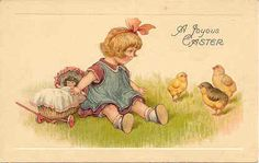 """ A Joyous Easter Wish "" Karodens Vintage Post Cards."
