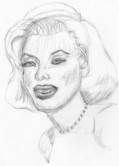 Marilyn Monroe, drawn live on April 17, 2010 (sketch 2) by aaipodpics, via Flickr