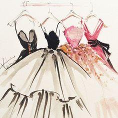 Katie Rodger's fashion illustrations | via smart sassy sweet Sisters ~ Cityhaüs Design