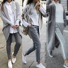 Love this almost grey-denim look! Grey Jeans Outfit, Jeans Outfit Winter, Casual Winter Outfits, Trendy Outfits, Fall Outfits, Gray Jeans, City Outfits, Mode Outfits, Fashion Outfits