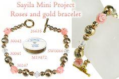 Roses and gold bracelet.