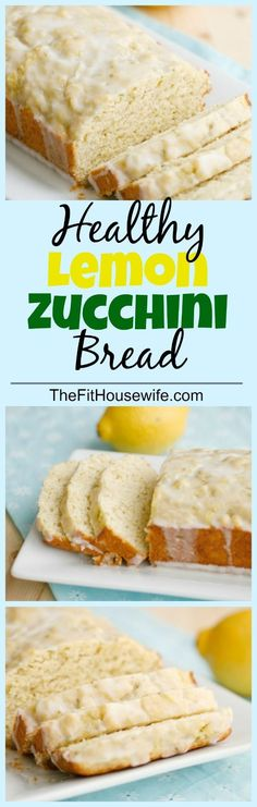 Lemon Zucchini Bread. A moist and delicious bread. A healthier version of the famous Starbuck's lemon loaf.