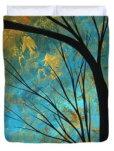Abstract Landscape Art Passing Beauty 3 Of 5 Duvet Cover by Megan Duncanson