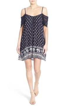 b5e09ad4f9a Band of Gypsies Cold Shoulder Woven Dress available at  Nordstrom Gypsy  Dresses