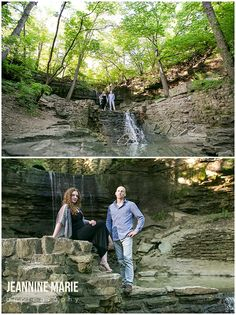Engagement session at Hidden Falls Park at the waterfall. Photos by Minneapolis engagement photographer, Jeannine Marie Photography. #waterfall #engaged #hiddenfallspark #engagement #engagementsession #couple #poses #engagementposes #minneapolisengagementphotos #jeanninemariephotography #minnesotaengagementphotographer #saintpaulengagementphotographer