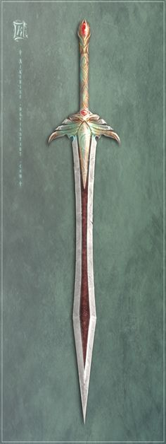 Indian haladie (double bladed dagger) from the Rajput ...