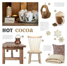 """""""Hot Cocoa"""" by c-silla ❤ liked on Polyvore featuring interior, interiors, interior design, home, home decor, interior decorating, Flamant, Waterford, Dot & Bo and hotwinterdrinks"""