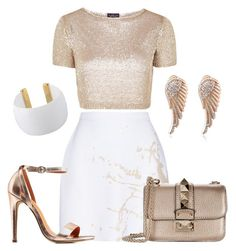 """""""Rose Gold & White"""" by dztyle on Polyvore featuring moda, Topshop, Zimmermann, Gogo Philip, Valentino y Charlotte Russe"""