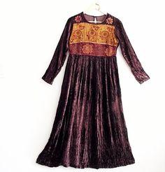 Sale 30% off Bohemian Maxi Velvet Dress Small Medium