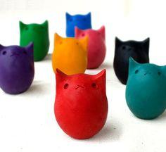 kitty egg crayon
