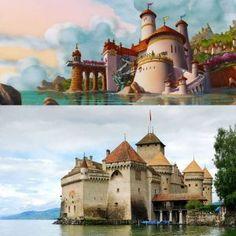 The Little Mermaid: Chateau De Chillon, Lake Geneva, Switzerland - Disney Movies Locations
