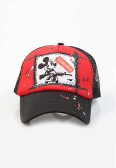mickey cap #handmade #cap #patch #vagrancylifestyle