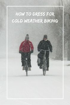 Winter biking gear: What to wear for cold weather cycling. Winter biking takes a different approach. Part of it is knowing how to dress for cold weather and wearing proper winter cycling gear. Here are some tips! Winter Cycling Gear, Cycling Tips, Cycling Art, Cycling Jerseys, Women's Cycling, Cycling Equipment, Cycling Workout, Cold Weather Dresses, Winter Outfits