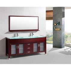 Meuble de salle de bain MATERA , Acajou