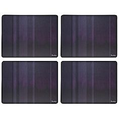 Denby - Set of four purple placemats
