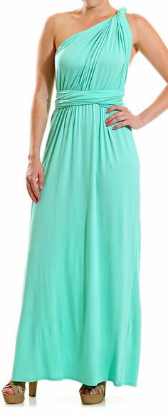 Mint Convertible Empire-Waist Gown Perfect, I just want it shorter for summer