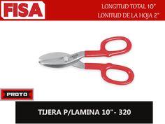 "TIJERA P/LAMINA 10""- 320. Longitud total 10"" longitud de la hoja 2""-  FERRETERIA INDUSTRIAL -FISA S.A.S Carrera 25 # 17 - 64 Teléfono: 201 05 55 www.fisa.com.co/ Twitter:@FISA_Colombia Facebook: Ferreteria Industrial FISA Colombia"