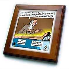 """1st Kings 17 17 24 Widow Retirement Bail Out Bible Elijah widow kid cakes deal resurrection - 8x8 Framed Tile by Rich Diesslin. $22.99. Solid wood frame. Cherry Finish. Keyhole in the back of frame allows for easy hanging.. Inset high gloss 6"""" x 6"""" ceramic tile.. Dimensions: 8"""" H x 8"""" W x 1/2"""" D. 1st Kings 17 17 24 Widow Retirement Bail Out Bible Elijah widow kid cakes deal resurrection Framed Tile is 8"""" x 8"""" with a 6"""" x 6"""" high gloss inset ceramic tile, surrounded by a solid ..."""