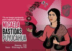 MICAELA BASTIDAS PUYUCAHUA - Contraportada para revista RUMI #4