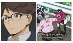 That was my reaction to Oikawa with glasses XD