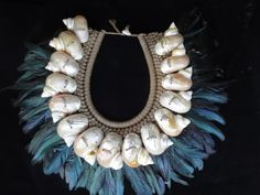 Turbo Shell Necklace Beads Adornment Women Fashion Home Decor Interior Design Papua New Guinea Style by ubudexotica on Etsy