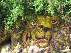 Amazing road-side mural in St. Joseph,   Barbados #YellowBirdHotel http://on.fb.me/Liu9Xz