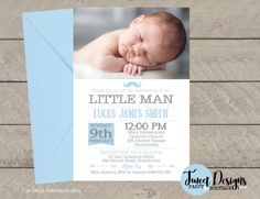 Christening Invitations, Baptism Invitation, Print yourself, Christening Printable, Baptism Printable, Naming Day Invitations