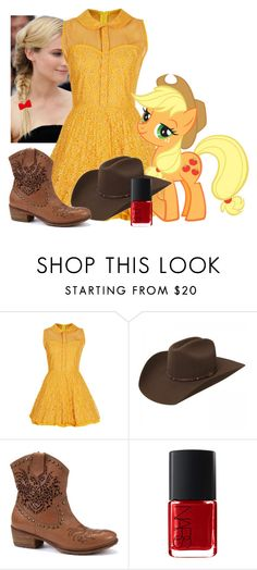 """My Little Pony: Applejack"" by officialbalehead ❤ liked on Polyvore featuring Topshop, Bronx, Italia Independent, women's clothing, women's fashion, women, female, woman, misses and juniors"