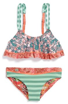 Maaji+'Paprika+Panda'+Bikini+Top+&+Reversible+Bottoms+(Big+Girls)+available+at+#Nordstrom