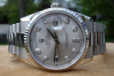 Rolex Presidential Day-Date in White Gold with Diamond Markers