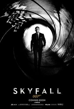 He's back! Here is the movie poster for Skyfall! I'll be first in line!