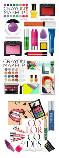 """Winners for All the Colors: Crayon-Inspired Makeup"" by polyvore ❤ liked on Polyvore featuring beauty, Deborah Lippmann, Elizabeth Arden, Eyeko, Givenchy, NARS Cosmetics, Kat Burki, Bobbi Brown Cosmetics, Morphe and Color"