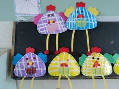 PS-MS-GS-CP : Poules de Pâques Easter Activities For Kids, Art Activities, Toddler Crafts, Crafts For Kids, Arts And Crafts, Easter Art, Easter Crafts, Art Lessons For Kids, Art For Kids