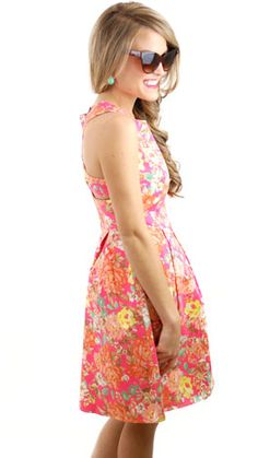 Neon Garden Dress