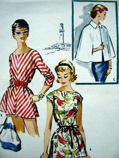 UNCUT  1950s  McCalls  Pattern 3640   Misses' by anne8865 on Etsy