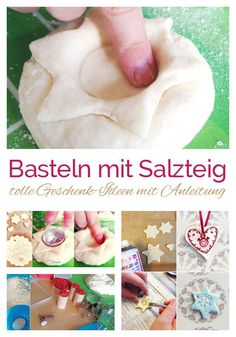 Weihnachtsgeschenke basteln mit Kindern – SALZTEIG SALTZIG recipe and great ideas with instructions for crafting with children. Christmas gifts are made with children of all ages. Diy Christmas Videos, Christmas Gifts For Kids, Winter Christmas, Christmas Presents, Christmas Crafts, Diy Projects For Teens, Diy Crafts For Kids, Craft Activities For Kids, Diy Arts And Crafts