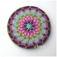 Crochet Mandela Pot Coaster