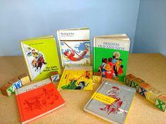 Six Vintage Basic Dick and Jane School Reader Lot Readers Ginn