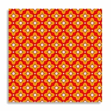 Heather Bailey Fabric - Tiled Primrose Cinnamon from Bijoux Collection