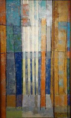 William Saltzman mid century modern abstract Painting 1957 Minnesota artist    Art, Art from Dealers & Resellers, Paintings   eBay!
